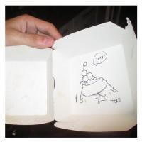 2012-dédicace dans une boite de big mac chez un libraire de grenoble