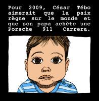 carte de voeux 2009 avec mon fils CÉSAR