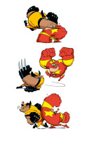 biceps vs wolverine (couleur informatique)