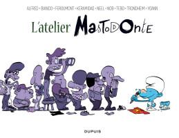 couverture intérieure refusée de L'ATELIER MASTODONTE 2 (trouvez la petite différence)