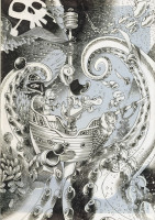 couverture du tome 2 dessiné par Keramidas en noir et blanc.