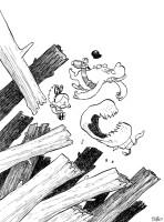 mon illustration  pour les hommages du tirage de luxe noir et blanc du  tome 1