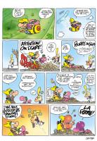 Page parue dans Tchô!, Titeuf est illustré par Zep, j'ai fait le reste. Je reprendrais cette histoire pour un album de Samson et Néon en remplaçant Titeuf par un gromosien.