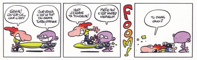 fait partie des premiers strips parus dans Tchô!