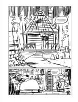 page 1 du tome 3, mon story board fait à la tablette numérique.