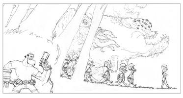 hellboy invasion (crayonné)