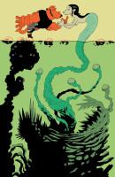 hellboy et la sirene (couleur informatique)